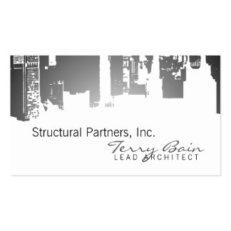 Gradient Upside Downtown Horizontal Skinny Business Cards