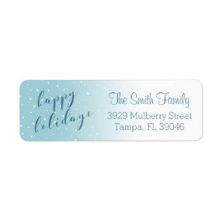 Gradient Watercolor Snow Address Label