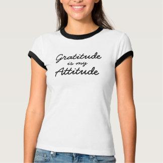 Graditude is my attitude women blk line T-Shirt