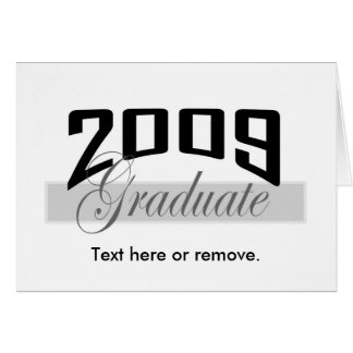 Graduate 2009 graduation card invitation II