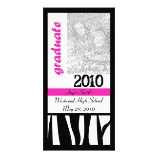 Graduate 2010 Zebra Stripes Photo Card
