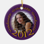 Graduate 2012 Purple and Gold Photo Frame