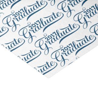 Graduate 2017 Modern Blue TonesTypography Tissue Paper