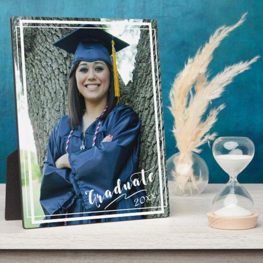 """Graduate 20xx"" 8x10 Vertical White Border Plaques"