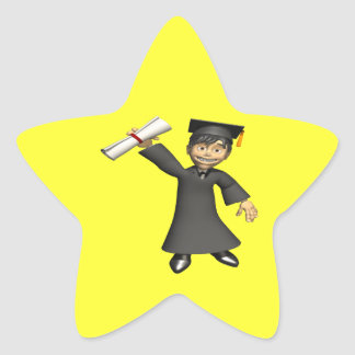 Graduate 3 star sticker