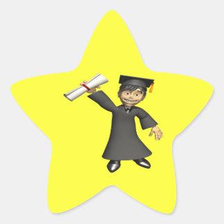 Graduate 3 star sticker