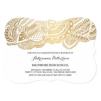 Graduate | Bohemian Gold Mandala Pattern 13 Cm X 18 Cm Invitation Card