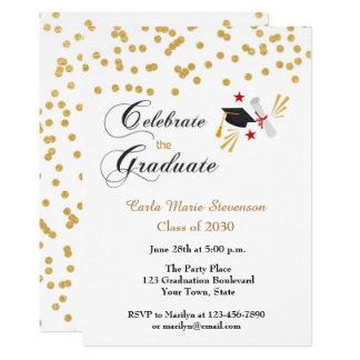 Graduate Celebration Gold Confetti Card