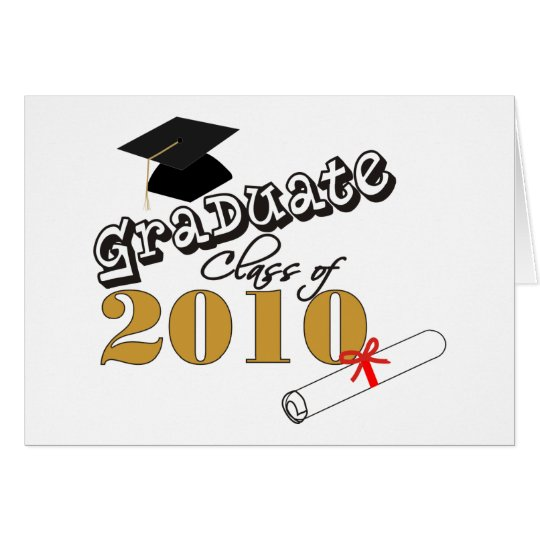 Graduate Class of 2010 Card