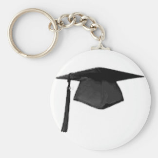 Graduate Class of Cap and Gown Template2 Keychains