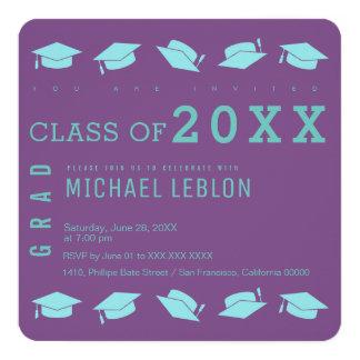 graduate / graduation party purple card