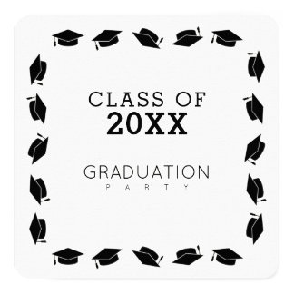 graduate / graduation party white card