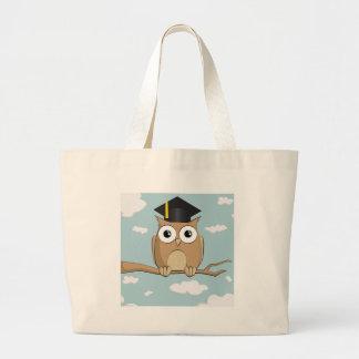 Graduate Owl Large Tote Bag
