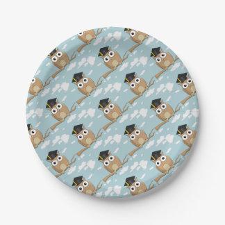 Graduate Owl Paper Plate