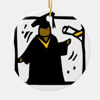 Graduate Receiving Diploma (1) Christmas Ornaments