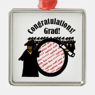 Graduate Receiving Diploma Photo Frame Metal Ornament