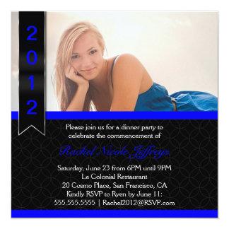 """Graduate Scroll 2012 Photo Graduation Invitation 5.25"""" Square Invitation Card"""