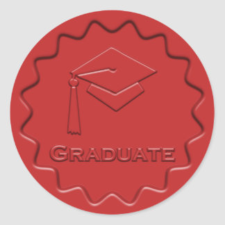 Graduate Sign Red Wax Seal