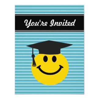 Graduate smiley face 11 cm x 14 cm invitation card
