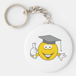 Graduate Smiley Face Key Chain