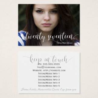 Graduate Twenty Seventeen Stay in Touch Personal Business Card
