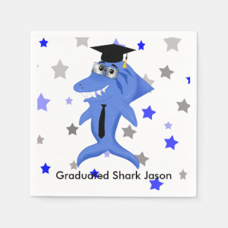 Graduated Shark party Disposable Serviette