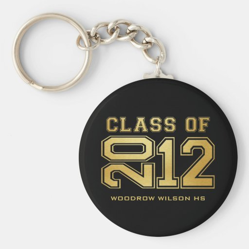 Graduating Class of 2012 Key-Chain (gold) Keychain