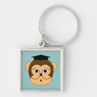 Graduating Monkey Keychain