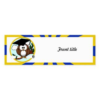 Graduating Owl w/  Blue & Gold School Colors Business Cards