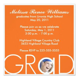 Graduation 13 Cm X 13 Cm Square Invitation Card
