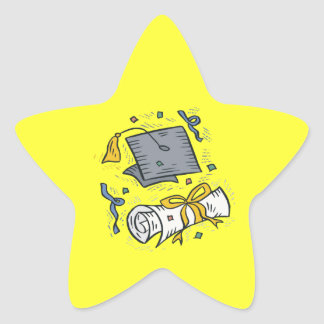 Graduation 3 star sticker