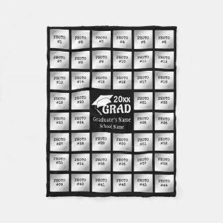 Graduation 44 Photo Collage (for Dark Background) Fleece Blanket