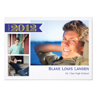Graduation Announcement Class of 2012  |  Blue