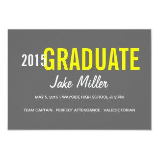 Graduation Announcement/Invite   yr Photo grey 9 Cm X 13 Cm Invitation Card