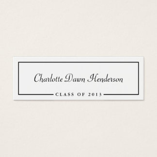 Graduation announcement name card border Class of