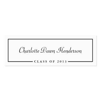 Graduation announcement name card border Class of Business Card Template