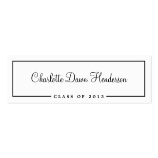 Graduation announcement name card border Class of Pack Of Skinny Business Cards
