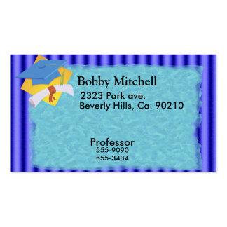 Graduation Blue Stripes Set Pack Of Standard Business Cards