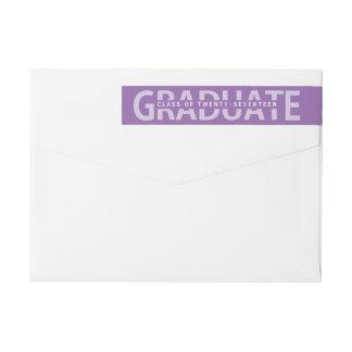 Graduation Bold Lettered Editible School Colors Wrap Around Label