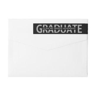 Graduation Bold Lettering Editible School Colors Wrap Around Label