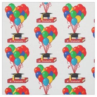 Graduation Book, Heart, Balloons, Diploma Fabric