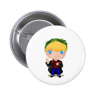 Graduation Boy Blonde (A) 6 Cm Round Badge