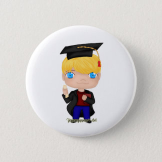 Graduation Boy Blonde (B) 6 Cm Round Badge