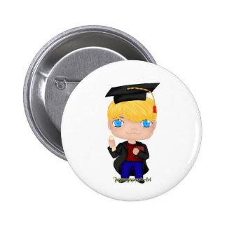 Graduation Boy Blonde (B) 6 Cm Round Badge