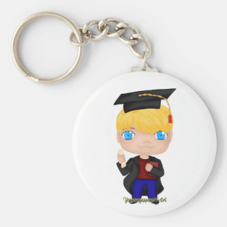 Graduation Boy Blonde (B) Key Ring
