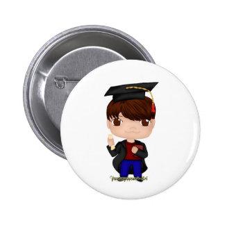 Graduation Boy Brown (B) 6 Cm Round Badge
