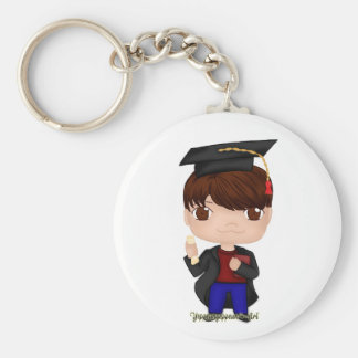 Graduation Boy Brown (B) Key Ring