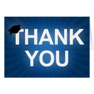 graduation cap : bold thank you greeting card
