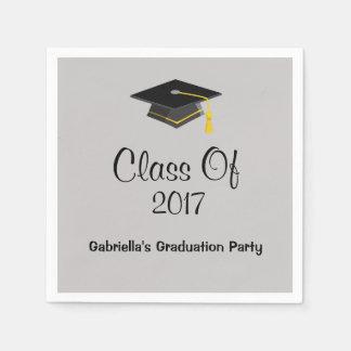 Graduation Cap Class Of 2017 Personalized Napkin Paper Napkin
