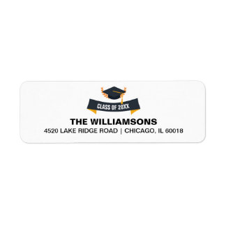 Graduation Cap Class of 2018 Custom Return Address Return Address Label
